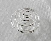 6 pcs - 15mm Coiled Flexible Bead Cage Silver