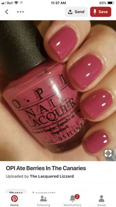 Here are the 10 most popular nail polish colors at OPI - My Nails Opi Nail Polish Colors, Pink Nail Colors, Opi Nails, Gel Polish, Opi Colors, Sinful Colors, Cute Nails, Pretty Nails, Nagel Gel