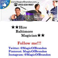 Brandon Freeman - Baltimore Magician 443-630-9007