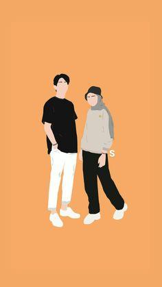 Cute Couple Drawings, Cute Couple Cartoon, Cute Couple Art, Pop Art Wallpaper, Cute Wallpaper Backgrounds, Cute Wallpapers, Fashion Wallpaper, People Illustration, Love Illustration