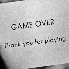 GAME OVER thank you for playing! I think you are having so much fun playing the blame game that you've failed to realize you have been playing all by yourself for quite some time now O.o lmao pls stop with the constant emails and trying to befriend my friends on social networks. Stalking someone is a felony and stalking yourself to make ppl believe you are being stalked is just plain weird LOL when I said you should get a hobby I didn't mean stalking me -_- #purasfallascontigo!