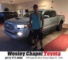 https://flic.kr/p/MYenBF | Congratulations Francisco on your #Toyota #Tacoma from Glenn Deller at Wesley Chapel Toyota! | deliverymaxx.com/DealerReviews.aspx?DealerCode=NHPF