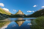 Le lac des Sagnes à Jausiers