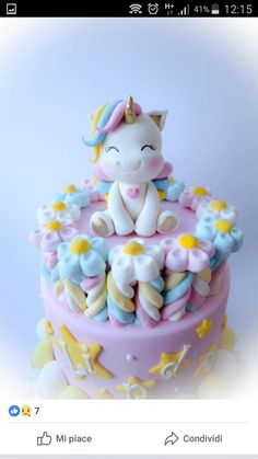 Trendy Baby Shower Cake For Girls No Fondant Princess Party 22 Ideas Unicorn Cupcakes, Unicorn Cake Topper, Pinterest Cake, Unicorn Baby Shower, Cake Images, Girl Cakes, Cake Girls, Savoury Cake, Cute Cakes
