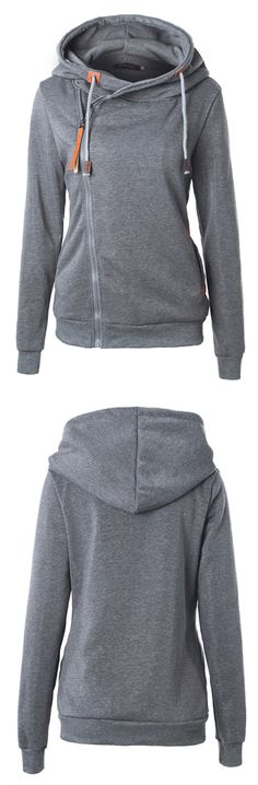 Basic is always classic, especially this Hooded Side Zipper Sweatshirt.Discover more at FIREVOGUE.COM