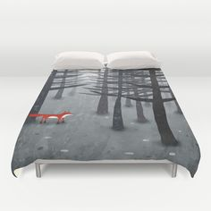 The Fox and the Forest Duvet Cover by Squirrell - $99.00
