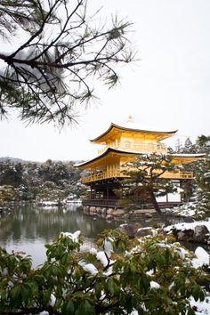 Golden temple Kinkakuji under snow - Kyoto - japan by Olivier Bergeron on 500px