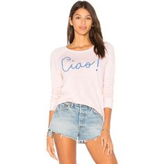 SUNDRY Ciao Crop Pullover