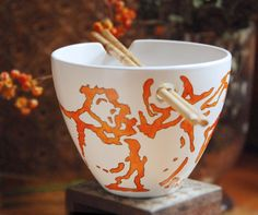 I love this noodle bowl! It totally makes me want to learn how to master chopsticks!