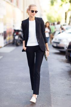 outfit | black & white | classic | tres chic