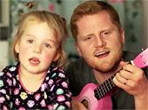 Daddy & His Little Girl Sing the Cutest Duet together when she hears fireworks and gets scared -Your Heart Will MELT :)