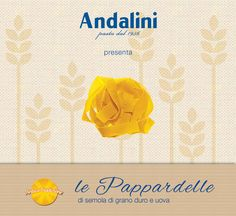 Buon inizio di settimana!  Portate in tavola la genuinità della migliore pasta all'uovo con le nostre #Pappardelle #AnticaTradizione.  www.andalini.it