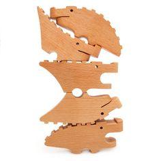 Poketo Croc Pile from Poketo. Shop more products from Poketo on Wanelo. Baby Toys, Kids Toys, Electronic Toys, Wood Toys, Toy Boxes, Retro Design, Little People, Baby Sleep, Wood Crafts