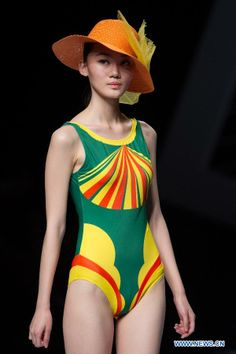 Model presents swimsuit at the Hosa Swimwear Fashion Show in Beijing, China, March 28, 2014