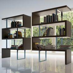 Modern bookshelf room divider