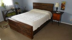 Reclaimed Pallet Wood Bed by Reanimatedwood on Etsy, $1350.00