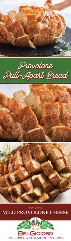This festive pull-apart bread is the perfect food for sharing at parties, but you won't want to share it.