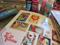 more prints--getting ready to make Valentines! Had another little printing party today, making up some painty and inky backgrounds to use with Valentines, and to share at the Altered Pages Artsociates blog.  Yep, used the Gelli plate again  easily amused, hard to offend . . .: Search results for gelli