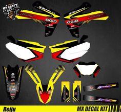 Kit Déco Moto / Mx Decal Kit Reiju MRT MRT Pro - Ogio Iron Man Birthday, Kit, Cars And Motorcycles, Honda, Decals, Guns, Design, Fringes, Street Bikes