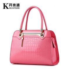 100% Genuine leather Women handbags 2017 New Crocodile pattern Fashion  European style single shoulder bag b873145f7d5c