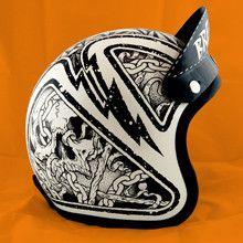 """ That's not just a rad VNM slogan when applied to Richard Minino (aka: Horsebites), it's the way he moves through life. Motorcycle Helmet Design, Motorcycle Art, Bike Art, Motorcycle Helmets, Kangoo Camper, Helmet Head, Moto Cafe, Helmet Paint, Custom Helmets"