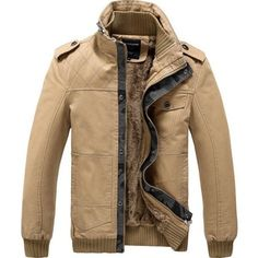 Mens Winter Thick Woolen Jackets Detachable Hooded Washed Coats Jackets - Gchoic.com
