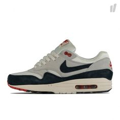Nike Air Max 1 OG Grey Obsidian Red Detailed Pictures