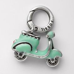 Fossil Scooter Charm