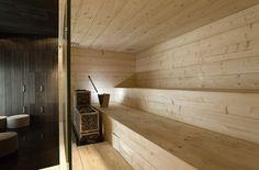 Avanto Architects, Expo Sauna Kyly, in the Finnish pavilion at the Shanghai Expo Bathroom Inspiration, Interior Inspiration, Modern Saunas, Sauna Design, Finnish Sauna, Spa Rooms, Building A New Home, Modern Interior Design, Architecture Design