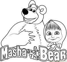 masha and the bear coloring pages Madi preschool