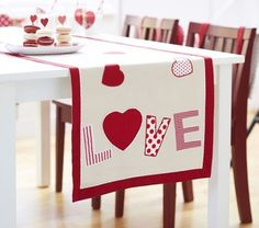 Valentine's Day Table Runner - contemporary - holiday decorations - Pottery Barn Kids