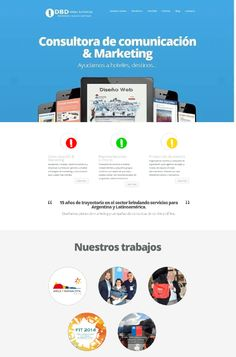 Consultora de marketing.  Sitio armado con Wordpress.