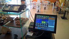 Solución TPV Hard+Soft Cafetería Trastevere. Incluye TPV Táctil, Imp.térmica, LCB y balanza, además del excelente software SIOGES Pro
