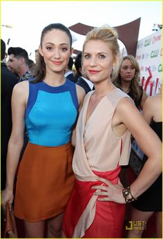 holy yummy color blocking #fashion, claire danes & emmy rossum
