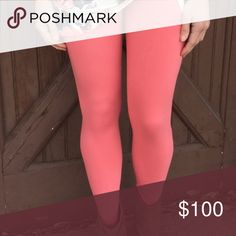❣️COMING SOON❣️ Pretty Coral color, just in time for Spring/Summer. Please like this listing for arrival notification 😊.                            92% Polyester 8% Spandex OS/0-12 comfortably. These leggings are like butter for your legs! Seriously, the most comfy leggings I've ever worn, and trust me I know leggings 😊 Infinity Raine Pants Leggings