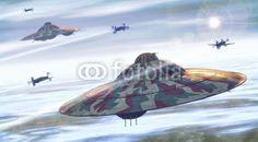 UFO: UFO nazi experimental, art by Luca Oleastri - www.innovari.it #ufo