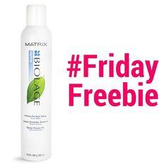 #FridayFreebie - Matrix Biolage Freeze Hair Spray, 10 oz