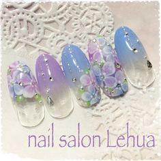 「梅雨のブルーを吹き飛ばす。#紫陽花ネイル で見つけた最旬デザイン20選♡」に含まれるinstagramの画像|MERY [メリー]