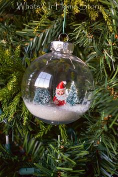 How to make a Santa Snow Globe Ornament