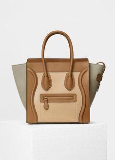 Micro Luggage Handbag in Baby Grained Calfskin and Nubuck - セリーヌについて