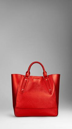 Large Patent Leather Landscape Tote Bag - Lyst Burberry Tote, Burberry  Handbags, Red Bags a1aa23115a
