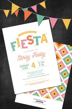 A bridal shower for pink letterpress custom bridal shower a fiesta is a great theme for your bridal shower and we have the perfect filmwisefo Gallery