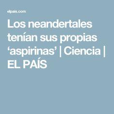 Los neandertales tenían sus propias 'aspirinas'   Ciencia   EL PAÍS
