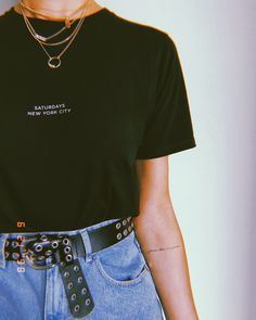 Outfit Ideas Discover Fashion Look Featuring Saturdays NYC Tees and Express Belts by BrittanyXavier - ShopStyle joie de vivre Hipster Outfits, Grunge Outfits, Trendy Outfits, Cool Outfits, Girly Outfits, Spring Outfits, Look Fashion, 90s Fashion, Fashion Outfits
