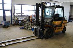 Karner & Dechow Industrie Auktionen - 1 4-Rad-Diesel-Frontgabelstapler STEINBOCK SH 45-5A2, Baujahr 1997, SN: V28761, max. Hubhöhe 3.500 mm, Gabellänge ca. 2 - Postendetails