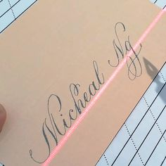 Choose from different texture color card stock and ink combination. STEP-BY-STEP INSTRUC. Calligraphy Nibs, Calligraphy Video, Calligraphy Tutorial, Calligraphy Drawing, Copperplate Calligraphy, Hand Lettering Tutorial, How To Write Calligraphy, Calligraphy Handwriting, Calligraphy Letters