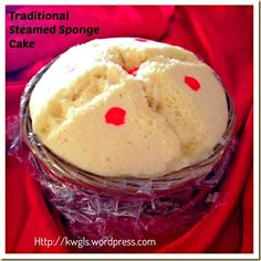 Back To Traditional Recipe of 1egg:1sugar:1flour- Traditional Steamed Sponge Cake (古早味鸡蛋糕)