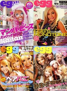 We've gathered our favorite ideas for The End Of Egg Magazine What Is The Key To Reviving, Explore our list of popular images of The End Of Egg Magazine What Is The Key To Reviving in ganguro culture. Japanese Fashion Trends, Japanese Street Fashion, Tokyo Fashion, Gyaru Fashion, Harajuku Fashion, Shibuya Style, Japan Info, Japan Street, Harajuku Girls