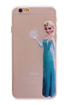 Elsa Transparent Back Cover Case for iPhone 6 Plus