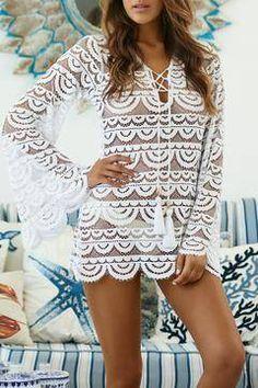 c414e61359a Shoptiques Products: Lace Noah Tunic White Tunic, Lace Tunic, White Lace,  Swimwear